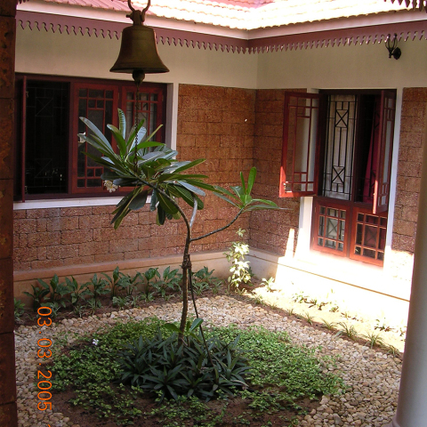 Courtyard houses nallu kettu urp design services for House garden design india