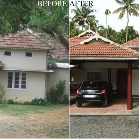 Renovation of Residence at Mulunthuruthy