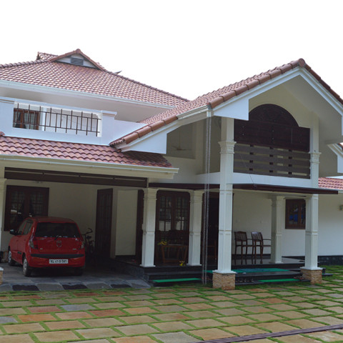 Front View of Residence at Angamally, Kerala
