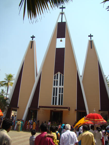 St. George Cathedral in Calicut designed in 1970